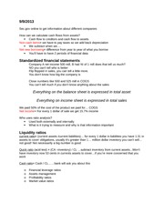 fina 411 class notes Introduction to accounting i lecture notes page 1 of 20 introduction to accounting acnt 1303 lecture notes summaries of financial activities are called financial.