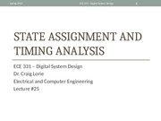 Lecture 25 - State Assignment and Timing Analysis