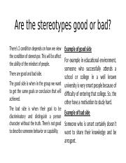 Are the stereotypes good or bad.pptx