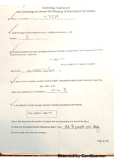 MATH 122 Technology Test Form A