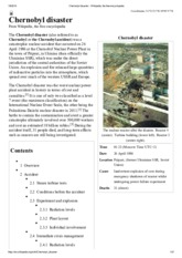 Chernobyl disaster - Wikipedia, the free encyclopedia