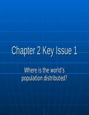 Chapter 2 Key Issue 1