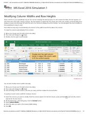 8 - Modifying Column Widths and Row Heights