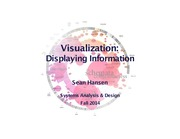 Systems Analysis and Design lecture 22 visualization