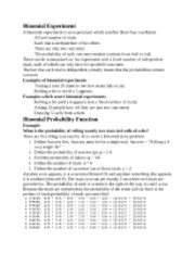 Binomial probability notes