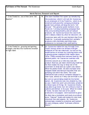 Film Report Template Nutrition 1