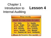 Chap01 Intro to Internal Auditing - Lesson4