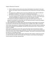 Chapter 6 Elements of Contracts Notes.docx