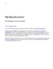 Flip-flop (electronics) - Wikipedia, the free encyclopedia