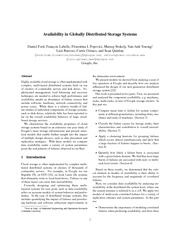 availability in globally distributed storage systems(google)