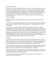 bio 107 lab report