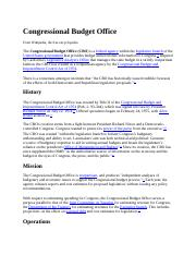 WEEK 3 Congressional Budget Office.docx