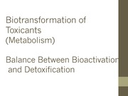 Biotransformation Lecture Notes
