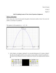 06.05 Graphing Systems of Non–Linear Equations Assignment.docx