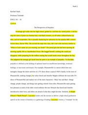 Student Generated Pleasantville Essay (with corrections)