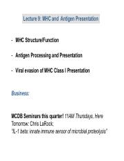 Lecture 9 MHC and Antigen Present.pdf