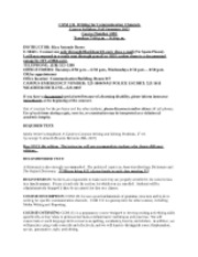 COM 131--Syllabus, Fall 2012, Tuesdays (1)