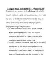 Supply- Econometrics Production Study Guide