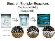 Chapter 20, electron trasfer reactions