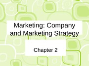 ch 2 Company and Marketing Strategy