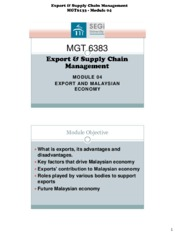 export and supply chain management 3