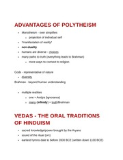 Advantages of Polytheism and Vedas