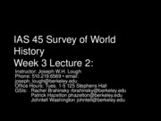 45+Week+3+Lecture+2 - Zhou China, Cultures in Africa, South Asia