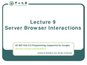 Lecture-09-Server-Browser-Interactions
