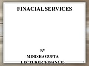 FINANCIAL SERVICESs