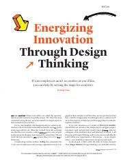 Tripp Energizing Innovation through DT