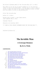 2_The Invisible Man, by H. G - Class - XII