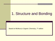 1. Structure and Bonding