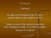 Chapter 4 - Contracts Powerpoint