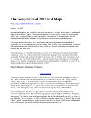 The Geopolitics of 2017 in 4 Maps (1)