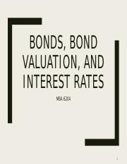 Week 2. Bonds, Bond Valuation, and Interest Rates post.pdf