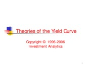 YCM 2001 - Yield Curve Theories