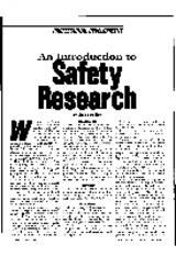 1999 - An Introduction to Safety Research
