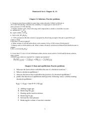 set 4 Homework Chapter 11 Solution, Chapter 13 rate and equilibrium.docx