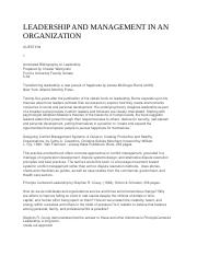 LEADERSHIP AND MANAGEMENT IN AN ORGANIZATION - for merge.docx