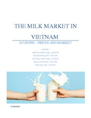 THE MILK MARKET IN VIETNAM 2015 - Micro assignemnt ( 2nd edited final version )