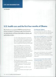 U.S. health care and the first four
