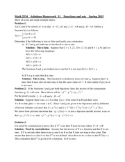 Math 2534 - Functions and Sets - Homework 11 Solutions
