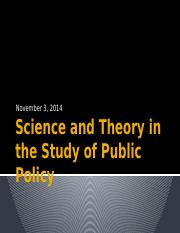 Science and Theory in the Study of Public