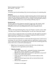 Week 2 assignment - Marketing Plan Elements.pdf