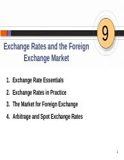 Chapter 9 Exchange Rates and Foreign Exchange Market