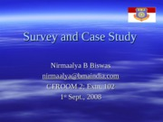 Lecture 6 Survey and Case Study