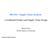 MS454-19-Coordinated Product and SC Design