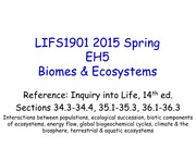 LIFS1901 2015 Spring EH5 Biomes _ Ecosystems
