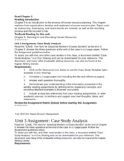 Unit 3 Case Study Analysis Assignment