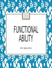 Module A, Functional Ability.pptx